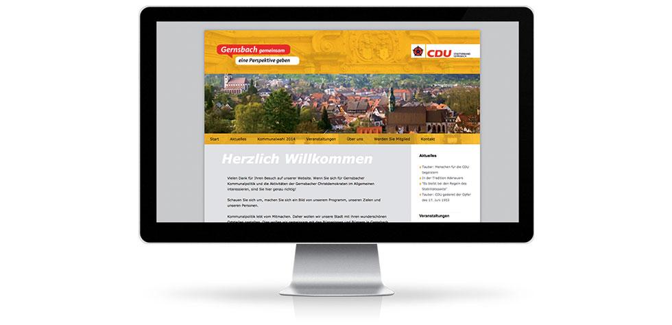 Relaunch Webseite der CDU Gernsbach