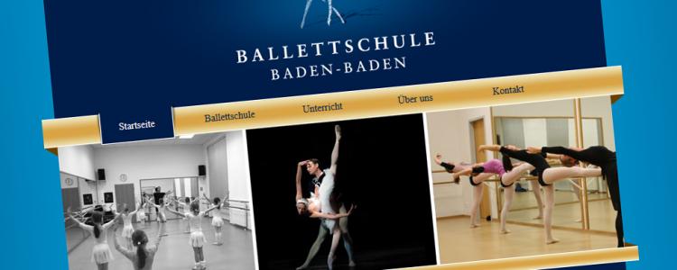 Ballettschule Baden-Baden ist mit einem eigenen Redaktionssystem cms ausgestattet