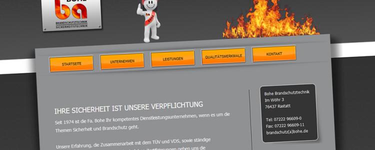 Wir haben für die Firma Bohe Brandschutz & Sicherheitstechnik e.K. in Rastatt die neue Firmenwebseite online geschaltet.  Das Layout Design wurde von uns eigens auf die Bedürfnisse des Kunden angefertigt. Dazu wurde ein individuelles Layout und ein neues Firmen Logo für den Print Bereich als auch das Webdesign der Webseite erstellt.  Die Umsetzung der Programmierung wurde mit php5, html und css gemacht. Für…. mehr lesen…..