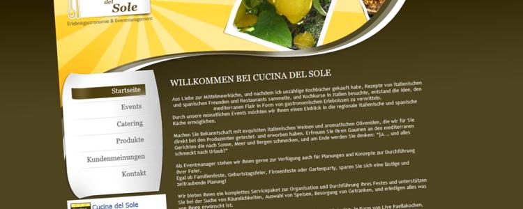 Wir haben für den Veranstalter für Eventgastronomie und Eventmanagement Cucina del Sole Gernsbach die Erstellung der Webseite übernommen.  Wir haben die Entwicklung des Layouts / Logo für den Print Bereich als auch das Webdesign der Webseite übernommen.  Die Umsetzung wurde im eigens angepassten Redaktionssystem (CMS) realisiert. Zusätzlich wurde für das Kontaktformular ein eigenes Programm geschrieben. (php, mysql)  Cucina del Sole bietet Ihnen ein…. mehr lesen…..