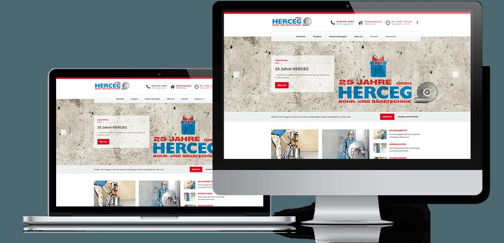 Webseite mit responsive design