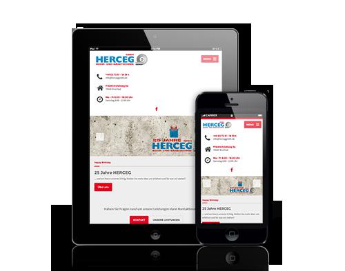 Wir entwickeln für Ihre Webseite ein responsive Design für eine mobilen Geräte wie Tablets und Smartphones in Rastatt