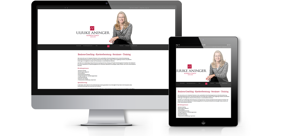 Für die FirmaBusiness Coach – Ulrike Aninger aus Baden-Baden haben wir die Aufgabe erhalteneine komplett Neue CI (Corporate Identity) mit einem eigenen Logodesign zu erstellen.  Hierzu wurde eine komplett neue Corporate Identity (CI) erstellt. Dabei war es wichtig die Neue Designsprache und die richtigen Designfarben für das Webdesign der Webseite zu finden. Dies wurde bei mehreren Kundenterminen eruiert. Das Layout wurde…. mehr lesen…..
