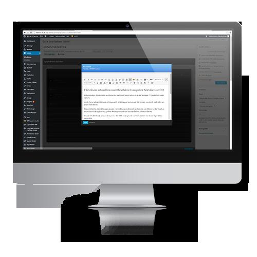 Wir erstellen Ihre Webseite und Internetauftritt in den Redaktionssystemen CMS wordpress, joomla, contao, sefrengo und typo3.