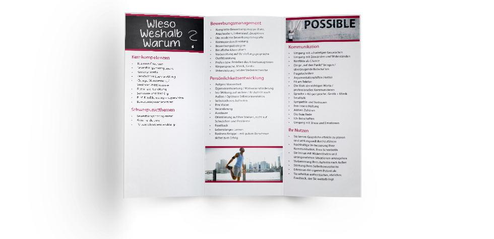 Flyer für Business Coach Ulrike Aninger NK IT Service Rastatt