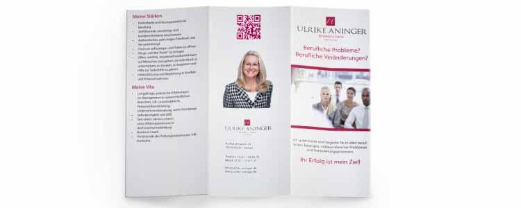 Flyer für Ulriker Aninger aus Baden-Baden erstellt