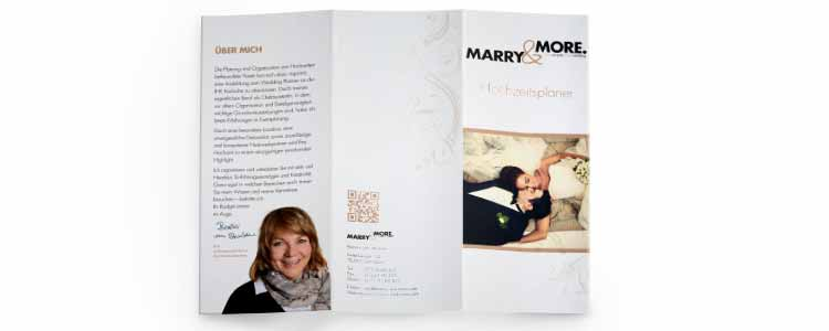 Flyer für Weddingplaner marry and more